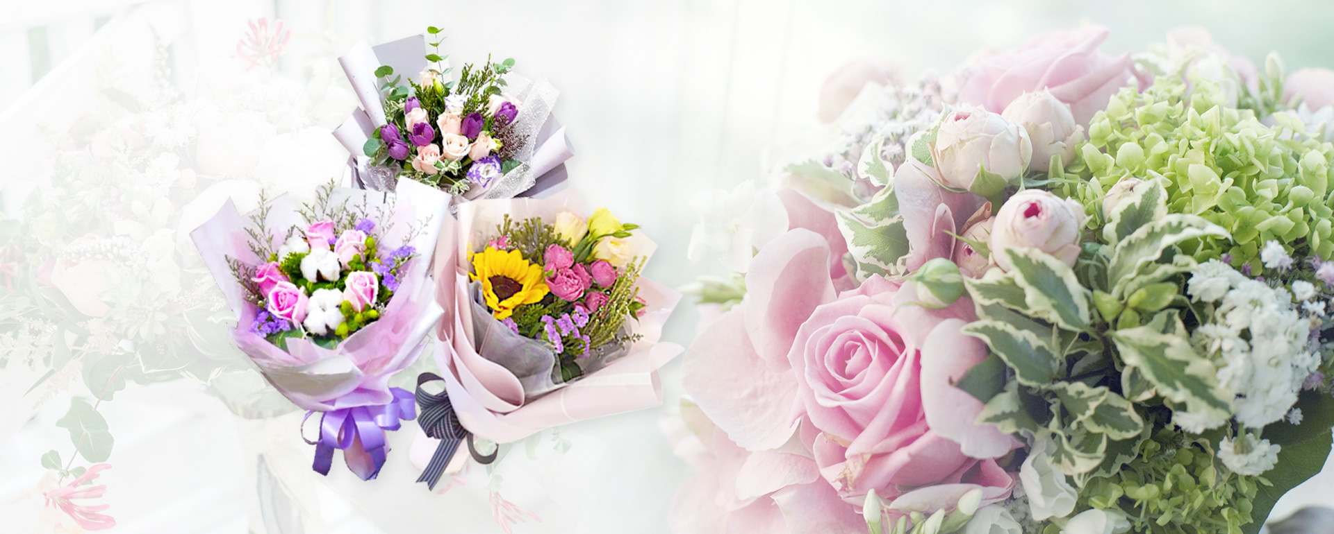We provide lovely and exquisite flowers bouquets